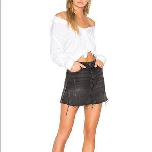 GRLFRND Eva black denim skirt